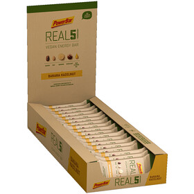 PowerBar REAL5 Boîte de barres 18x65g, Banana Hazelnut